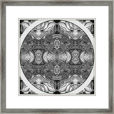 Symmetry  In Black And White Framed Print by Jack Dillhunt
