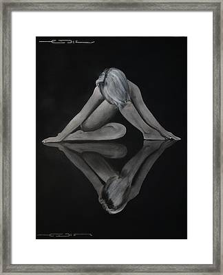 Framed Print featuring the painting Symmetry In Paint  by Eric Dee