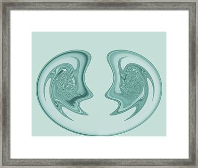 Symmetry Framed Print by Soumya Bouchachi