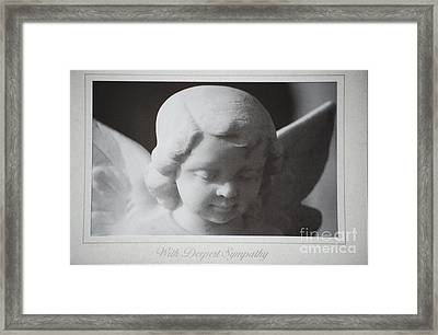 Sympathy      Angel Framed Print