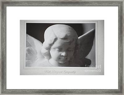 Sympathy      Angel Framed Print