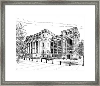 Framed Print featuring the drawing Symphony Center In Nashville Tennessee by Janet King