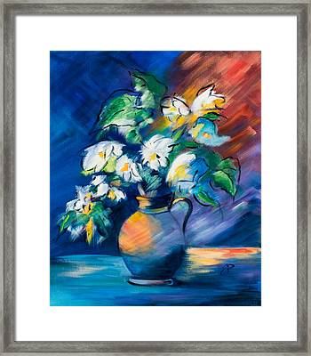 Symphony In Blue Framed Print by Elise Palmigiani