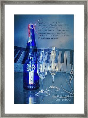 Symphony In Blue Framed Print