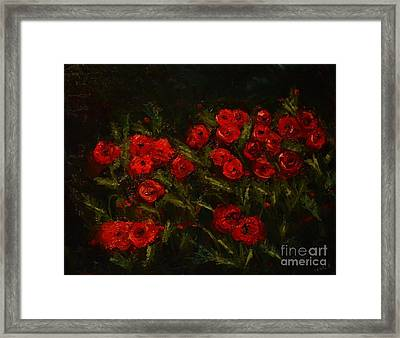 Symphony In Coquelicot Framed Print