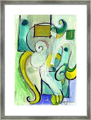 Framed Print featuring the painting Symphony In Green by Stephen Lucas