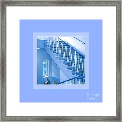 Symphony Of Blue Lines Framed Print by Mona Stut