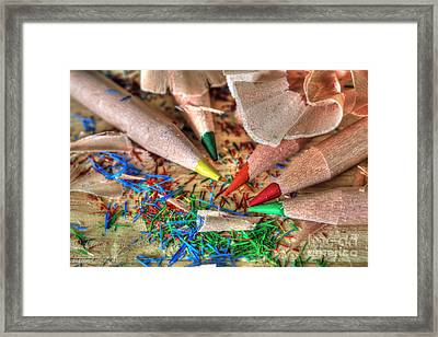 Symphony Of Color Framed Print by Tracy  Hall