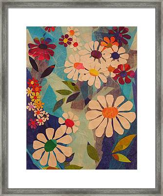 Framed Print featuring the mixed media Symphony Of Flowers by Diane Miller