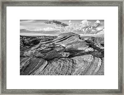 Symphony Of Frozen Waves Horseshoe Bend Page Glen Canyon Arizona - Navajo Nation Framed Print by Silvio Ligutti