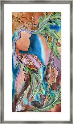 Symphony Of Leaves Framed Print by Chris Morningforest
