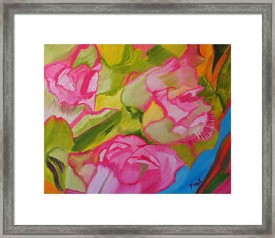 Symphony Of Roses Framed Print