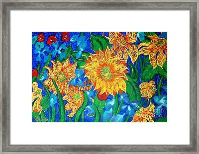 Symphony Of Sunflowers Framed Print