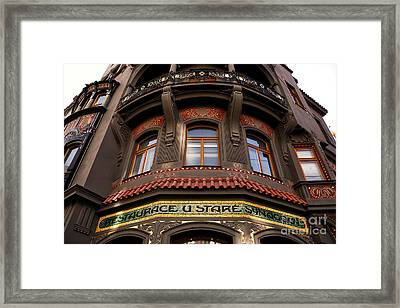 Synagogue Restaurant Framed Print by John Rizzuto
