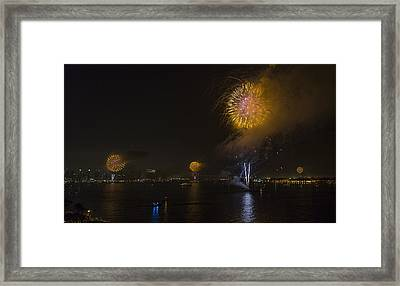 Synchorized Shots Framed Print by Scott Campbell