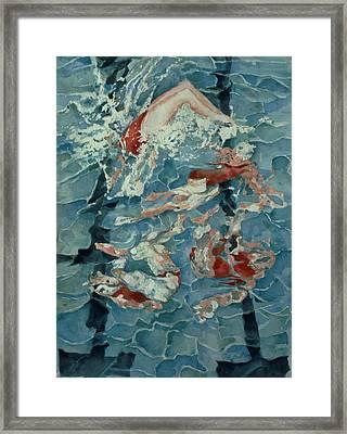 Synchronised Swimming, 1989 Framed Print