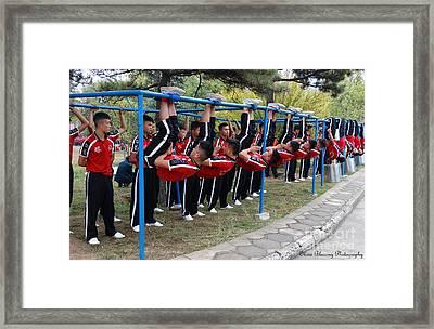 Synchronized Identicals Framed Print by Olivia Blessing