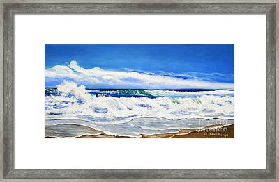 Synchronized Sensations Framed Print by Shelia Kempf