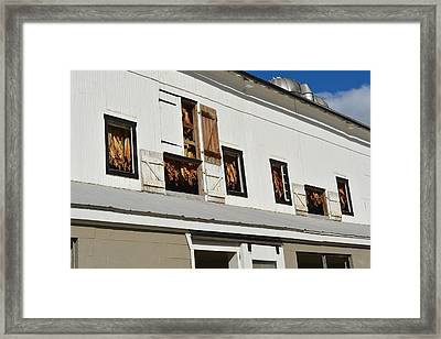 Syncopated Tobacco Barn Framed Print