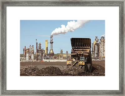 Syncrude Upgrader Plant Framed Print by Ashley Cooper