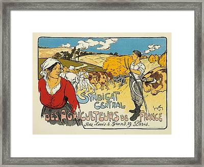 Syndicat Central Des Agriculteurs De France Framed Print by George Fay