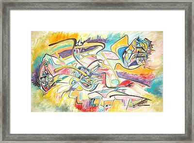 Framed Print featuring the painting Synergetic Statement by Esther Newman-Cohen