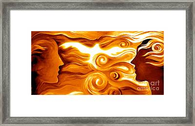 Synergy In Love Framed Print by Gem S Visionary