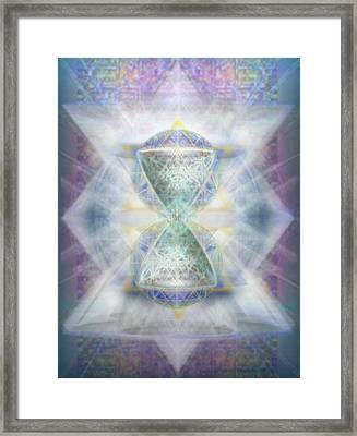 Synthesphered Chalice Fifouray Star On Tapestry Framed Print by Christopher Pringer