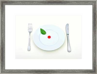 Synthetic Food Framed Print