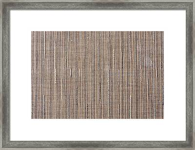Synthetic Material Texture Framed Print by Tom Gowanlock
