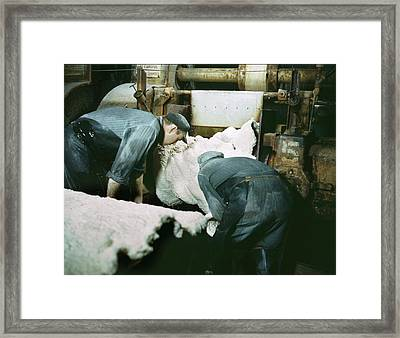 Synthetic Rubber Production Framed Print