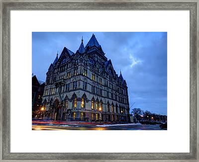 Syracuse Savings Bank Framed Print