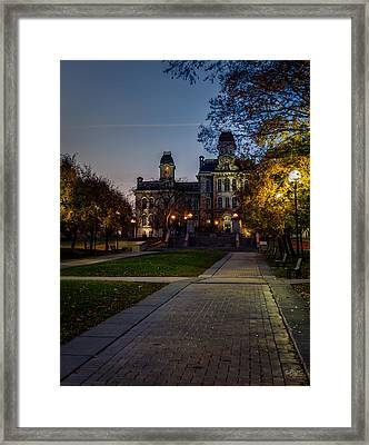 Syracuse University  Framed Print by Everet Regal