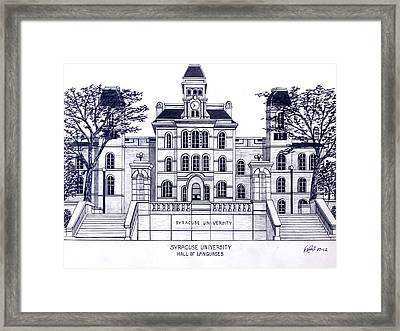 Syracuse University Framed Print by Frederic Kohli