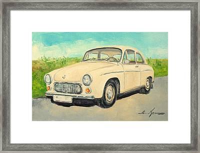 Syrena 105 - Polish Car Framed Print