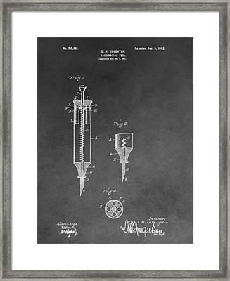 Syringe Patent Framed Print