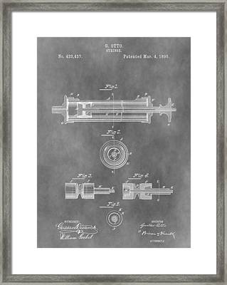 Syringe Patent Design Framed Print by Dan Sproul