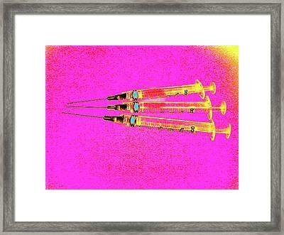 Syringes Framed Print by Larry Berman