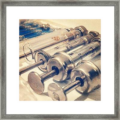Syringes Framed Print
