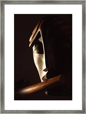 Syrinx A Wood Spirit Framed Print by Windy Dankoff