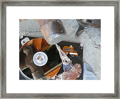 System Error Hard-drive Failed Framed Print by Mg Rossi