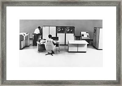 Systems 86 Computer System Framed Print by Underwood Archives