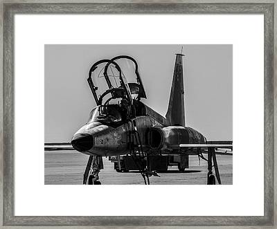 T-38 Talon Black And White Framed Print