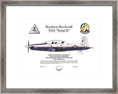 Framed Print featuring the digital art T-6a Jpats Texan II by Arthur Eggers