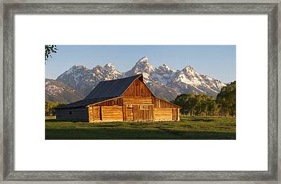 T. A. Moulton Barn And The Tetons Framed Print