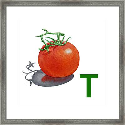 T Art Alphabet For Kids Room Framed Print by Irina Sztukowski