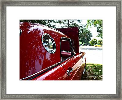 Vintage Car - Opera Window T-bird - Luther Fine Art Framed Print