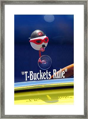 T-buckets Rule Framed Print by Jill Reger