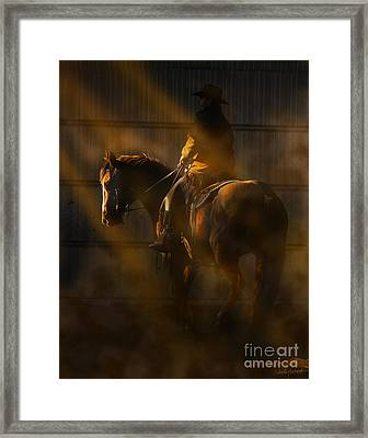 T Hunter  Framed Print by Judy Wood