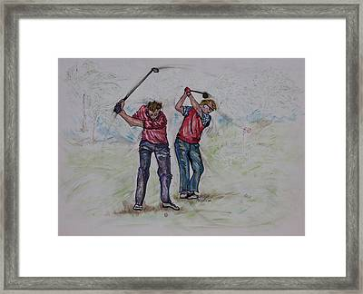 T- It - Up Framed Print by Suzanne Macdonald